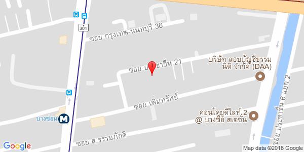Google Map of 13.820033,100.5341073