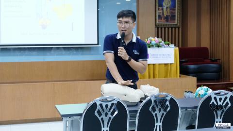 ธรรมนิติจัดอบรม การทำ CPR การช่วยชีวิตเบื้องต้น