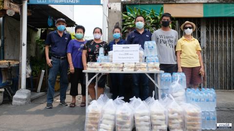 มูลนิธิธรรมนิติ ส่งมอบอาหารกลางวัน (ครั้งที่ 2) จำนวน 200 กล่อง ให้แก่ชุมชนโคกปู่แก่น