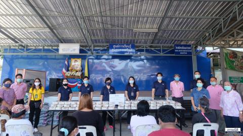 มูลนิธิธรรมนิติ ส่งมอบอาหารกลางวัน (ครั้งที่ 7) จำนวน 200 ชุด ให้แก่ชุมชนราชทรัพย์