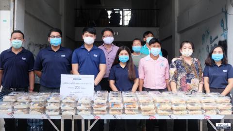 มูลนิธิธรรมนิติ ร่วมกับ บริษัท ดีไอทีซี จำกัด ส่งมอบอาหารกลางวัน (ครั้งที่ 9) ให้แก่ชุมชนสุขสันต์ 2