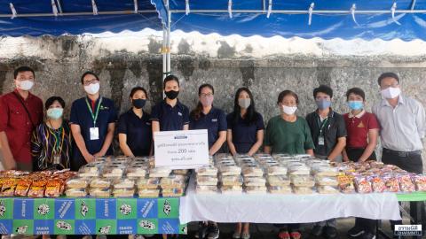 มูลนิธิธรรมนิติ ส่งมอบอาหารกลางวัน (ครั้งที่ 11) จำนวน 200 ชุด ให้แก่ชุมชนเดรี่เบลล์