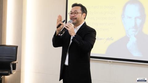 """ธรรมนิติ จัดบรรยาย ในหัวข้อ """"Research and Analysis Marketing"""" โดย คุณประสงค์ รุ่งสมัยทอง ที่ปรึกษาประธานกรรมการบริหารด้านความรู้สึก บมจ. ธนาคารกสิกรไทย"""