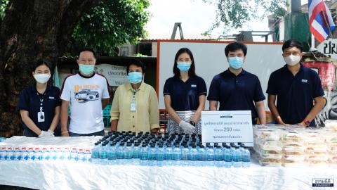 มูลนิธิธรรมนิติ ร่วมกับ บมจ. ยูเนี่ยน ปิโตรเคมีคอล ส่งมอบอาหารกลางวัน (ครั้งที่ 17) ให้แก่ชุมชนตรอกต้นมะม่วง