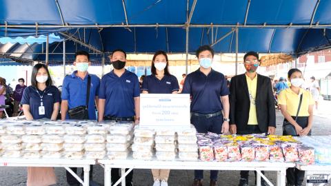 มูลนิธิธรรมนิติ ร่วมกับ บมจ. ยูเนี่ยน ปิโตรเคมีคอล ส่งมอบอาหารกลางวัน (ครั้งที่ 20) ให้แก่ชุมชนวัดหลวง
