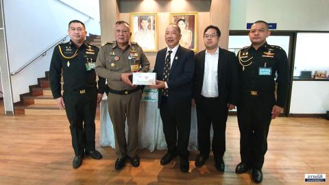 สมาคมวัฒนธรรมและเศรษฐกิจไทย-จีน มอบหน้ากากอนามัยละถุงมือยางทางการแพทย์ ให้แก่ศูนย์อำนวยการใหญ่จิตอาสาพระราชทาน