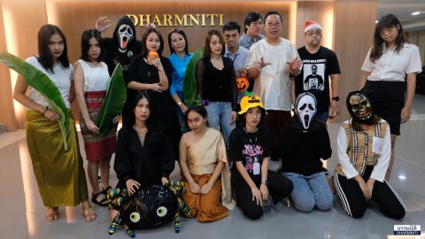 """ชาวธรรมนิติร่วมกันแต่งตัวในธีม """"ผีไทย"""" ต้อนรับเทศกาล Halloween และลอยกระทง"""